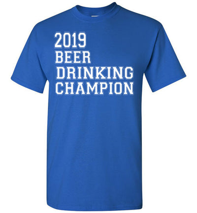 SportsMarket Premium Clothing Line-St. Paddy's Day Tshirt-2019 Beer Drinking Champion-Tshirt-Teescape-Royal-S-SportsMarkets