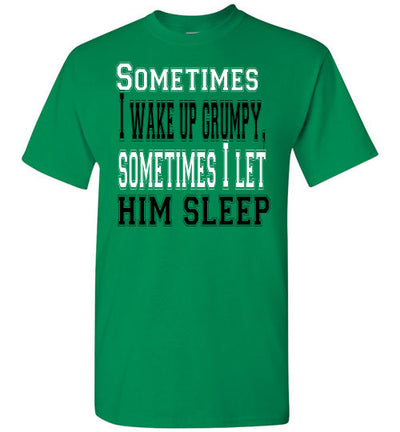 SportsMarket Premium Clothing Line-St. Paddy's Day Tshirt-Wake Up Grumpy-Tshirt-Teescape-Turf Green-S-SportsMarkets