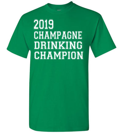 SportsMarket Premium Clothing Line-St. Paddy's Day Tshirt-2019 Champagne Drinking Champion-Tshirt-Teescape-Turf Green-S-SportsMarkets