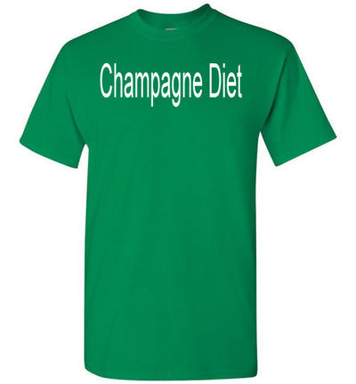 SportsMarket Premium Clothing Line-St. Paddy's Day Tshirt-Champagne Diet-Tshirt-Teescape-Turf Green-S-SportsMarkets
