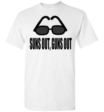 SportsMarket Premium Clothing Line-Suns Out, Guns Out Tshirt-SportsMarkets-White-S-SportsMarkets