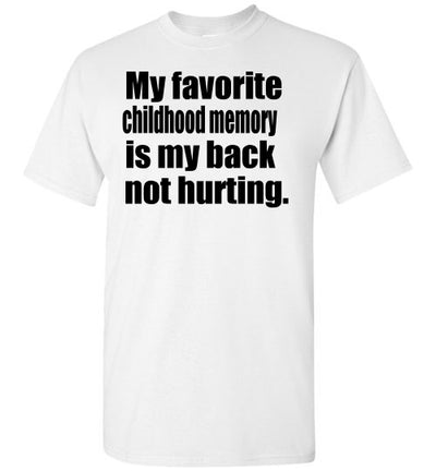 SportsMarket Premium Clothing Line-Back Not Hurting Tshirt-SportsMarkets-White-S-SportsMarkets