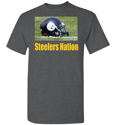 SportsMarket Premium Clothing Line-Steelers Nation Tshirt-Tshirt-Teescape-Dark Heather-S-SportsMarkets