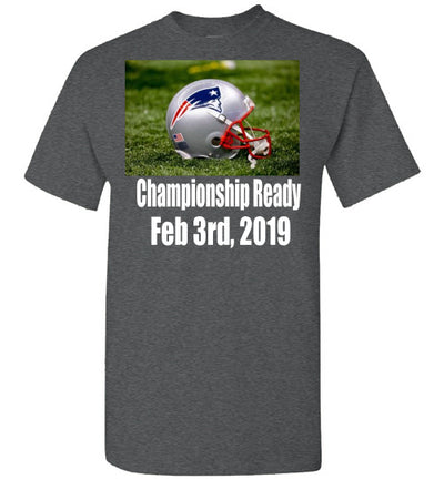 SportsMarket Premium Clothing Line-Patriots Championship Ready Tshirt-Tshirt-Teescape-Dark Heather-S-SportsMarkets
