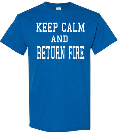 SportsMarket Premium Clothing Line-Keep Calm and Return Fire