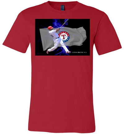SportsMarket Premium Clothing Line-Rangers Beltre Lightning Tshirt-SportsMarkets-Red-S-SportsMarkets