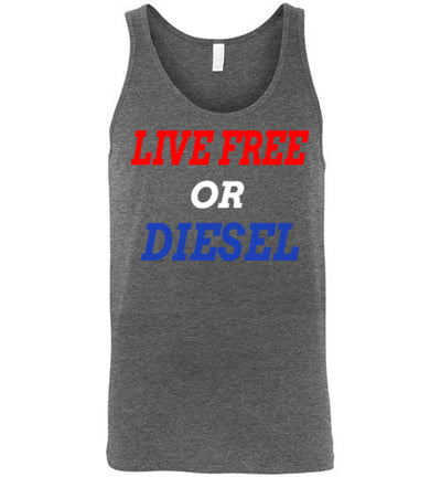 SportsMarket Premium Clothing Line-Live Free or Diesel Canvas Tank Top