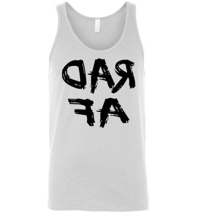 SportsMarket Premium Clothing Line-RAD AF Canvas Unisex Tank Top