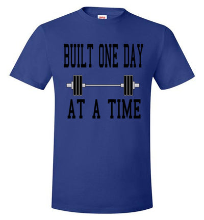 SportsMarket Premium Clothing Line-Built One Day at A Time Workout Tshirt
