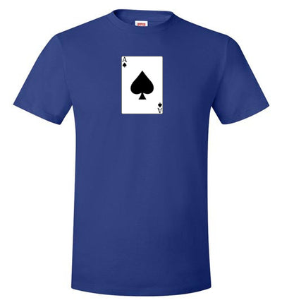 SportsMarket Premium Clothing Line-Ace of Spades Poker Tshirt