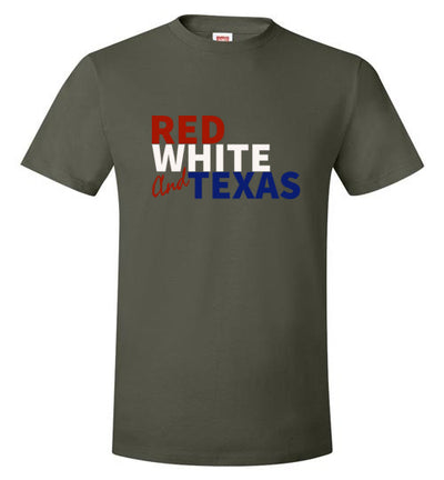 SPORTSMARKET PREMIUM CLOTHING LINE-RED WHITE & TX TSHIRT