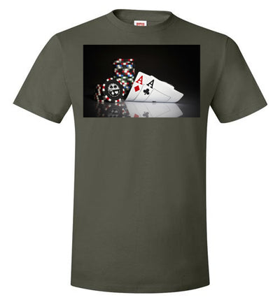 SportsMarket Premium Clothing Line-Nothing but Aces Poker Tshirt