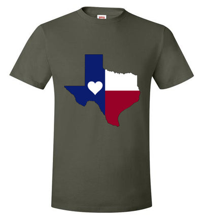 SPORTSMARKET PREMIUM CLOTHING LINE-HEART OF TEXAS TSHIRT