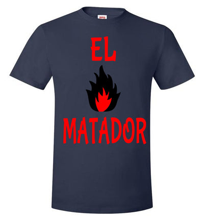 SportsMarket Premium Clothing Line-El Matador On Fire Hanes Tshirt