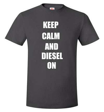 SportsMarket Premium Clothing Line-Keep Calm and Diesel On Hanes Tshirt