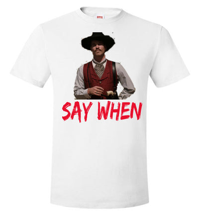 SportsMarket Premium Clothing Line-Doc Say When Hanes Everyday Use Tshirt