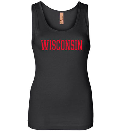 SportsMarket Premium Clothing Line-Wisconsin Red Ladies Everyday Use Tank