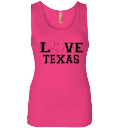 SportsMarket Premium Clothing Line-Love Texas Everyday Wear Tank Top