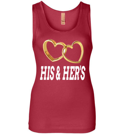 SportsMarket Premium Clothing Line-His & Her's Heart Rings Ladies Tank Top