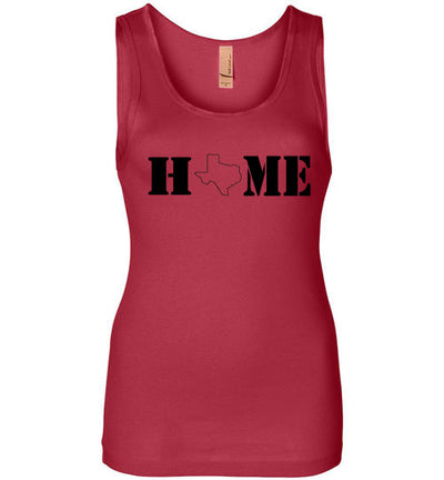 SportsMarket Premium Clothing Line-Texas Home Stencil Ladies Everyday Use Tank