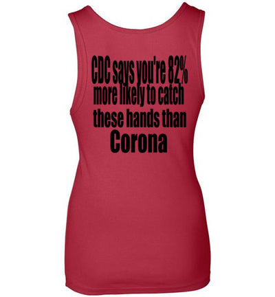 SportsMarket Premium Clothing Line-Catch Hands Next Level Ladies Tank