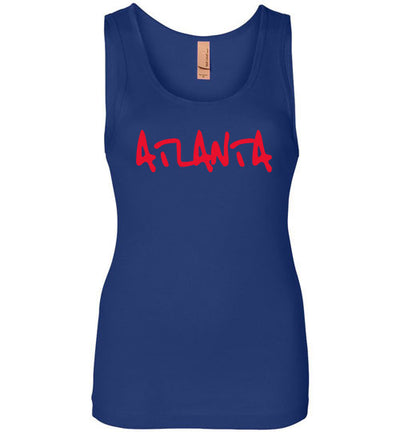 SportsMarket Premium Clothing Line-Atlanta Script Ladies Everyday Use Tank