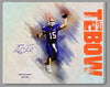 Tim Tebow Custom 2019 Edition Watercolor Canvas - Facimile Autograph