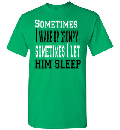 SportsMarket Premium Clothing Line-St. Paddy's Day Tshirt-Wake Up Grumpy-Tshirt-Teescape-Irish Green-S-SportsMarkets