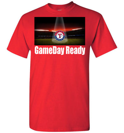 SportsMarket Premium Clothing Line-Texas Rangers Gameday Ready Tshirt-SportsMarkets-Red-S-SportsMarkets