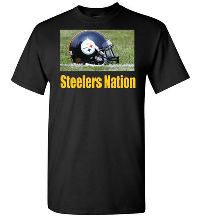 SportsMarket Premium Clothing Line-Steelers Nation Tshirt-Tshirt-Teescape-Black-S-SportsMarkets