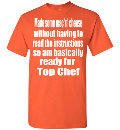 SportsMarket Premium Clothing Line-Top Chef Ready Tshirt-SportsMarkets-Orange-S-SportsMarkets