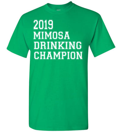 SportsMarket Premium Clothing Line-St. Paddy's Day Tshirt-2019 Mimosa Drinking Champion-Tshirt-Teescape-Irish Green-S-SportsMarkets