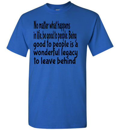 SportsMarket Premium Clothing Line-Be Good Tshirt-SportsMarkets-Royal-S-SportsMarkets