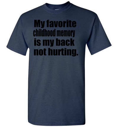 SportsMarket Premium Clothing Line-Back Not Hurting Tshirt-SportsMarkets-Navy-S-SportsMarkets