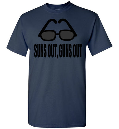 SportsMarket Premium Clothing Line-Suns Out, Guns Out Tshirt-SportsMarkets-Navy-S-SportsMarkets