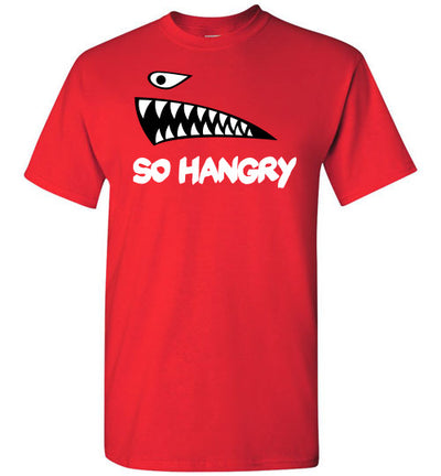 SportsMarket Premium Clothing Line-So Hangry Red Tshirt-SportsMarkets-Red-S-SportsMarkets