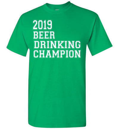 SportsMarket Premium Clothing Line-St. Paddy's Day Tshirt-2019 Beer Drinking Champion-Tshirt-Teescape-Irish Green-S-SportsMarkets