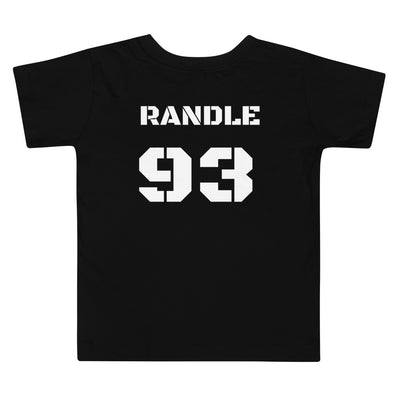 SportsMarket Premium Clothing Line-Vikings Legend Randle 93 Toddler Short Sleeve Tee