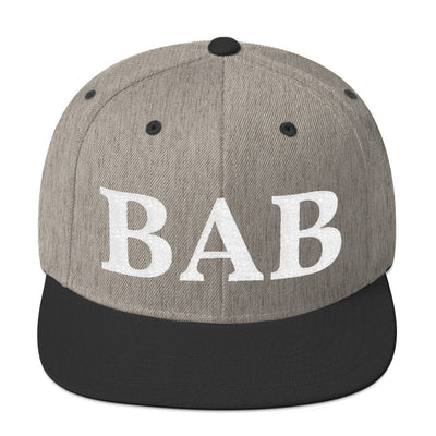 SportsMarket Premium Clothing Line-BAB Personalized Snapback Hat