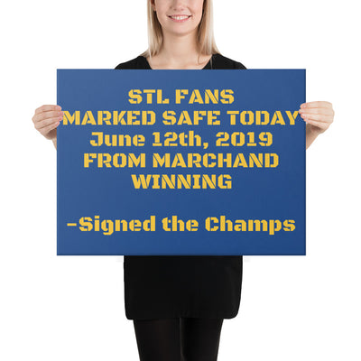 SportsMarket Premium Clothing Line-STL Fans Marked Safe Today Canvas