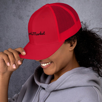 SportsMarket Premium Clothing Line-Personalize YOUR Retro Trucker Cap-Say What You Want