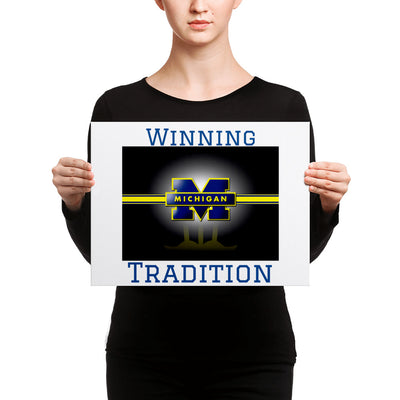 SportsMarket-Michigan Winning Tradition Canvas-canvas-SportsMarkets-12×16-SportsMarkets