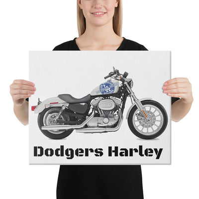 SportsMarket-Los Angeles Dodgers Harley Canvas