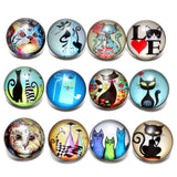 12pcs Glass Cat Charms - My Bengal Boy