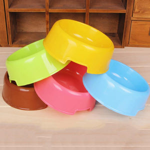 Candy Color Pet Feeding Bowl