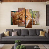 4pcs/set Unframed Yellow Cat Net Puzzled Eyes Poster Print On Canvas Wall Art Picture For Home and Living Room Deco - My Bengal Boy