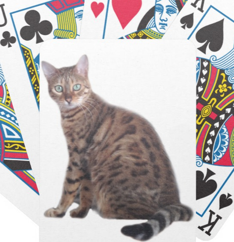 Bengal Cat Playing Cards - Lunani's Fashion Book | Fashionable and reasonable dresses and shoes!