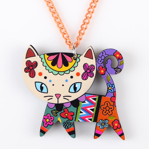 Colorful Cat Necklace - Lunani's Fashion Book | Fashionable and reasonable dresses and shoes!