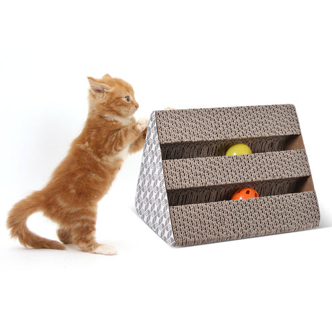 Cat Scratcher with Balls
