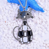 Rhinestone Cat Necklace - My Bengal Boy